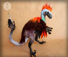 Mr. Raptor - OOAK Art Doll by hikigane