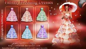 Fantasy Wedding Dresses by DIGI-3D