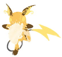 Raichu Paint Splatter Graphics by HollysHobbies