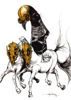 The Jaundiced Rider by alexpardee