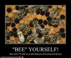 Bee Demotivational Poster by Red-Rum-18