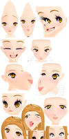 The many sexy faces of Janetv2 by TehPuroisen