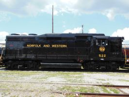 Norfolk and Western GP30 No. 522 Side View by rlkitterman