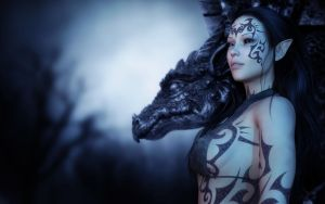Lyndi, The Dragon Lady III by Sabreyn