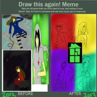 BEFORE AND AFTER MEME by kieskaxofxthexsand