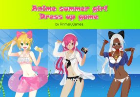 Anime Summer girl dress up by Rinmaru