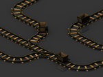 Mine Cart and Tracks by pfunked