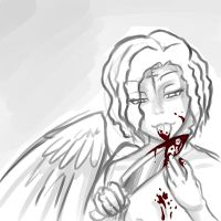 Bloody angel by Quinmael