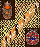 by Olones_Afrikan Masks PSD by olones
