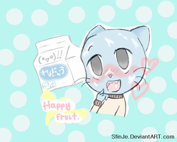 Gumball version Happy fruit!-Vocaloid- SUB ITA by SfinJe