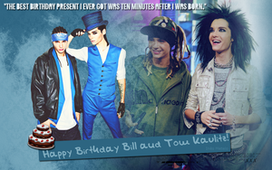 Wallpaper: Happy Birthday Bill and Tom Kaulitz! by schaferlisting