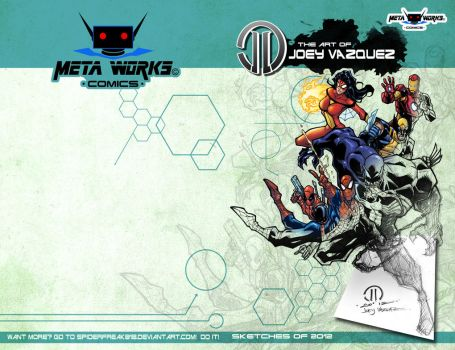The Art of Joey Vazquez cover and back cover by JoeyVazquez