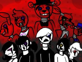 We're poor little souls: Five Nights at Freddy's. by YaoiLover113