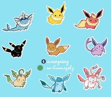 Eeveelutions (Digital Version) by I-AM-HUMMINGSKY