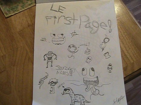 Le first page by BlankMind218INC