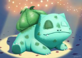 Bulbasaur Spreading Spores by Erick-FM