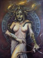 Medusa, queen of the Gorgons by Mixta110