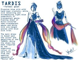 TARDIS: Formal Gown by Sno-Oki