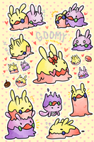 Goomy Stickers by kuroeko