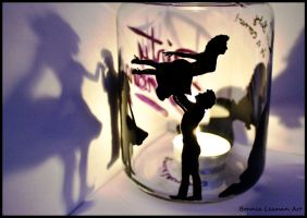 Dirty Dancing Candle Holder 2 by Bonniemarie