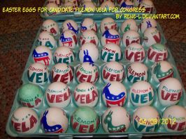 Easter eggs for Filemon Vela for Congress by Rene-L