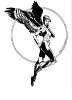 Hawkgirl by Drew Edward Johnson by kendiwan1987