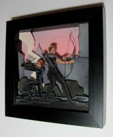 Avengers Papercraft Diorama - Budapest! by astridv
