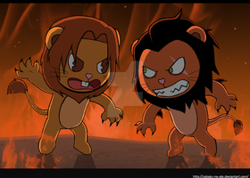 TLK+HTF: Simba vs. Scar by The-PirateQueen