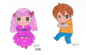 Two Chibis by dancefever92
