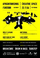DNB + Dubstep Show Poster by mechan