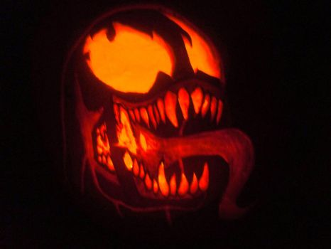 Venom Pumpkin by S4781R
