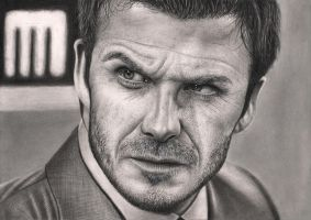 'DAVID BECKHAM' graphite drawing (New Technique) by Pen-Tacular-Artist