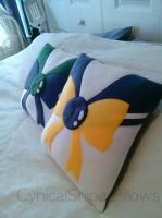 Sailor Uranus and Neptune Pillow by CynicalSniper