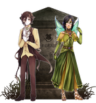 {IB} Costume Meme: Tinkerbell and Peter Pan 8D by Nikae
