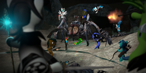 Battle with Queen of spiders. by Neros1990