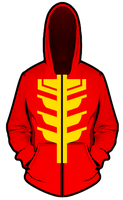 PRSMF Red Ranger Hoodie idea test 1 by KalEl7