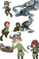 HTTYD: Lil' Hiccup + Toothless by DarkHalo4321