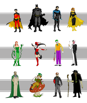Batman Lineup by Whaleshooter
