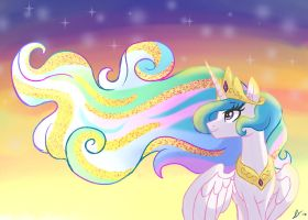Celestia's Solar Mane by DreamscapeValley
