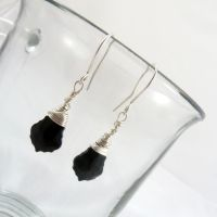 Swarovski Baroque earrings in sterling silver by Lincey