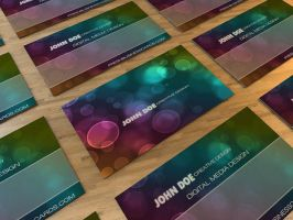 Bokeh III Business Card by Freshbusinesscards
