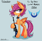Scootaloo - For The New Lunar Republic Comic by Rigiroony