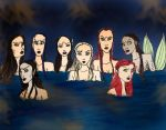 Angry Mermaids by Selinelle