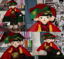 Merlin plush with feather hat by LuffyNoTomo