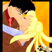 Darien and Serena Kiss by whats-the-catch22