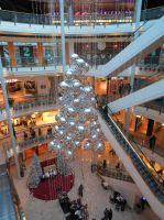 Malls during Christmas by Catchmewithyourlips