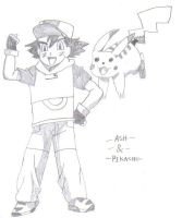 Ash And Pikachu by TommEdge4Life