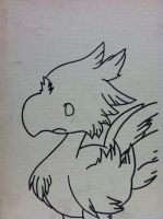 chocobo outline by sampson1721
