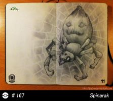 167 - Spinarak by Py3rr