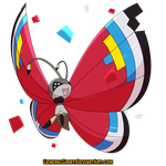 My Favorite Bug Type of 2015- Vivillon by GeneralGibby